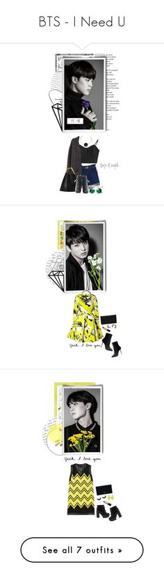 """BTS - I Need U"" by glitterlovergurl ❤ liked on Polyvore featuring ARTE, York Wallcoverings, Love Quotes Scarves, H&M, Étoile Isabel Marant, Proenza Schouler, Chicnova Fashion, Forever 21, Designers Guild and SANDERSON"