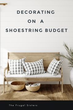 Decorating on a Shoestring Budget ~ The Frugal Sisters Money Saving Challenge, Money Saving Tips, Project Ideas, Diy Projects, Rearranging Furniture, Debt Free Living, Traditional Frames, Engineer Prints, Household Budget