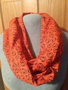 Pumpkin infinity scarf by KruseKreations22 on Etsy,