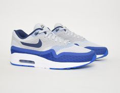 #Nike Air Max 1 Breathe Blue White #sneakers