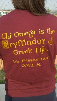 Only a Chi Omega and Harry Potter Nerd Would Understand  . . . yes I am talking to you @Emily Oreskovich