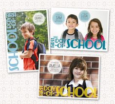 First Day of School Photo Card - Digital. $7.00, via Etsy.