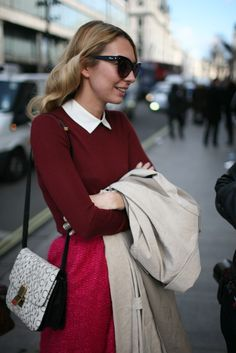 Out and about during London Fashion Week.