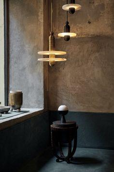 Inside the Creative Realm of Studio Apparatus — anniversary magazine Led Bulb, Brass Fixtures, How To Make Light, Brass Pendant Light, Light And Shadow, Apparatus Lighting, Studio, Adjustable Lamps, Light Fixtures