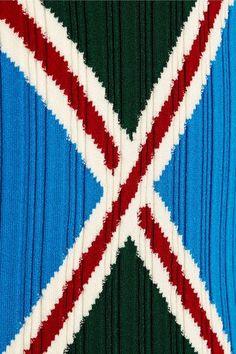 Esteban Cortazar - Ribbed-knit Polo Shirt - Bright blue - x small