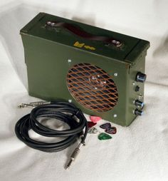 Ammo-Can-Guitar-Amplifier-10-Watt-Outdoor-Public-Address-System