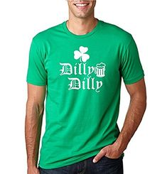 92c8dc21 TheTshack Dilly Dilly Beer Shamrock  Mens ST. Patrick's Day Tee Graphic T- Shirt
