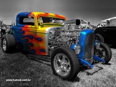 Street Rod - Rad Rod - Hot Rod--love the paint job Street Rods, Bugatti, Lamborghini, Hot Rods, Classic Hot Rod, Classic Cars, Carros Hot Rod, Ford, Hot Rod Trucks
