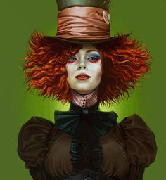 Lady Hatter. I love this so much! Then have Nate be the mad hatter and Maggie the tea mouse!! Perfect!!