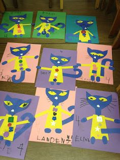 We had a great week with LOTS of Pete the Cat fun. After reading Pete the Cat I Love My White Shoes,  we made shoes (in our favorite co...
