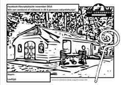 Kleurplaat Vakantiehuis Veluwe. Winactie facebook november 2014