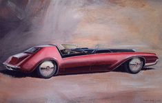 Some Cadillac concept cars and the future weren't that far apart. Many of the ideas explored in Cadillac concept cars later sho. Car Design Sketch, Car Sketch, Convertible, Car Guide, Automobile, Car Advertising, Car Drawings, American Muscle Cars, Retro Futurism