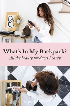 What's in my Louis Vuitton backpack? All of the summer beauty products I can't leave the house without! I love this bag and I have a few new faves from Sephora so I decided to just combine the two topics into a 2-in-1! Foundation, lip gloss, Fenty eyeliner, Cover FX Highlighter & more! I love makeup so much and I'm always trying new things | The Sweetest Thing Blog by Emily Ann Gemma | Affordable Fashion Cover Fx Highlighter, Beauty Tips For Skin, Best Beauty Tips, Beauty Hacks, Best Skincare Products, Beauty Products, What's In My Backpack, The Sweetest Thing Blog