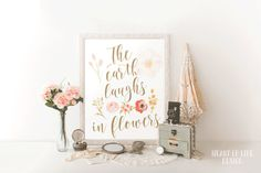 Instant The earth laughs in flowers printable by HeartOfLifeDesign