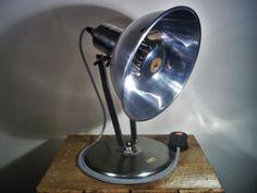 Converted-Vintage-Retro-50s-Heat-Lamp-Industrial-Steampunk-Desk-Table-Spot-Lamp