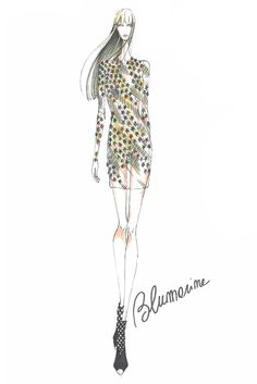 """Baby Jane Holzer in the years of The Factory... a personal, eclectic journey made of instinct and glamour."" - Anna Molinari, Blumarine sketch"