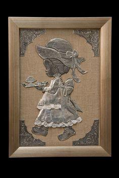Metal Crafts, Craft Stick Crafts, Clay Crafts, Arts And Crafts, Pewter Art, Pewter Metal, Aluminum Foil Art, Aluminium Foil, Emboss Painting