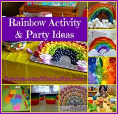 Rainbow Activities and Party Ideas!  I want to do a rainbow fruit tray for our sunshine themed food table.