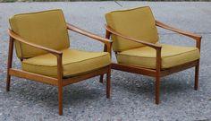 Pair Mid-Century Danish Modern Teak Dux Lounge Chairs | eBay
