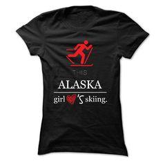 This Girl Alaska Loves Skiing T-Shirt