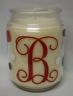 lots of cricut gift ideas including this candle in a jar