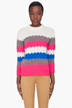 Marc By Marc Jacobs Pink Striped Nikolai Sweater for women | SSENSE