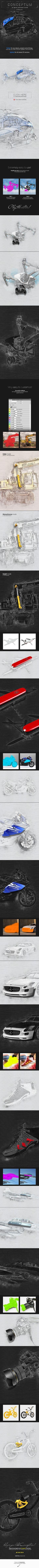 Conceptum - 3D Sketch Photoshop Action - Photo Effects Actions