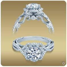 Verragio round halo diamond engagement ring available at Diamonds Direct