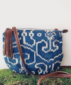 da4bcad0d1b6 Blue Ikat Date Purse Back Bag