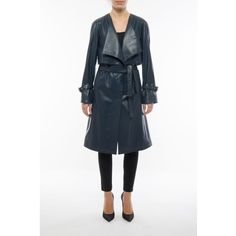DROMe Coats & Jackets ($975) ❤ liked on Polyvore featuring outerwear, jackets, lamb leather jacket, maxi jacket, white jacket, lapel jacket and lambskin jacket