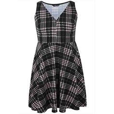 PRE-ORDER - Black & Pink Check Skater Dress With V Neck $91.00 http://www.curvyclothing.com.au/index.php?route=product/product&path=95_105&product_id=8032&limit=100