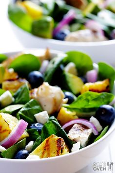 Love all the ingrdients! Love grilled food! Love this salad! Grilled Pineapple, Chicken and Avocado Salad