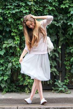 Tulle Skirt www.grafea.com #Leather backpack