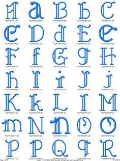 Amber Alphabet Embroidery Design