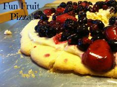 Fun Fruit Pizza Recipe! Great for kids!