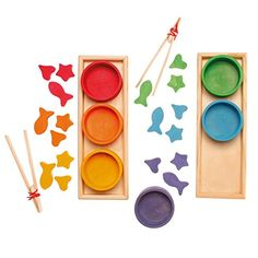 Grimm's Rainbow Bowls Shape & Color Sorting Game/Activity Set with Grabbing Tongs Grimm's Spiel and Holz Design http://www.amazon.com/dp/B00ISQVJSA/ref=cm_sw_r_pi_dp_.jlYvb1B8QE0X