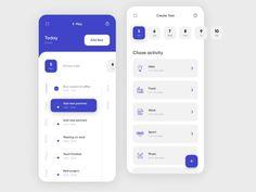 do list - Task app by Vadim Marchenko Interface Design, Interface Web, Web And App Design, Dashboard Mobile, Mobile App Ui, Mobile Ui Design, Layout, Interaktives Design, Flat Design