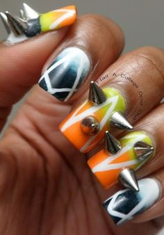 those are some serious studs! this nail art is crazy