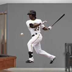 Andrew McCutchen REAL.BIG. Fathead Wall Graphic | Pittsburgh Pirates Wall Decal | Sports Decor | Baseball Bedroom/Man Cave/Nursery