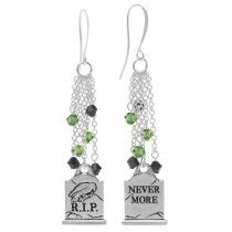 Halloween Earrings - Nevermore Gravestone - Exclusive Beadaholique Jewelry Kit