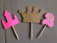 Princess party cupcake toppers Princess party by FalcoClan on Etsy