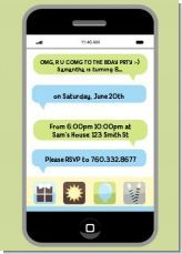 Text Message Invitation Birthday Party
