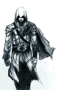 Ezio Auditore De Firenze sketch by Logan-Benso by Logan-Benson121.deviantart.com on @DeviantArt