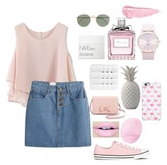 """""""Untitled #72"""" by music-is-my-life12 on Polyvore featuring Chicwish, Christy, J.Crew, NARS Cosmetics, Ted Baker, Uncommon, Converse, Fiebiger, Christian Dior and Eos"""