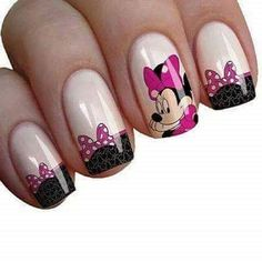 Mickey Mouse Nail Art, Minnie Mouse Nails, Mickey Mouse Nails, Summer Holiday Nails, Christmas Nails, Summer Nails, Elegant Nail Designs, Simple Nail Art Designs, Sparkle Nails
