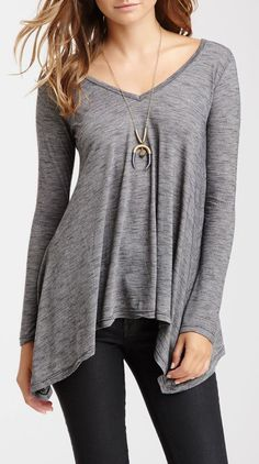 Slub Knit Tunic, perfect for today's weather!