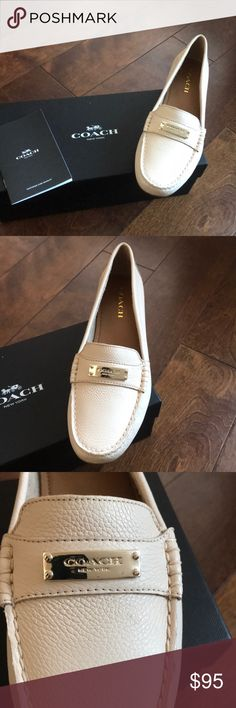 Coach leather shoes moccasins Beige Brand new pair of shoes with box & authenticity booklet Coach Shoes Moccasins