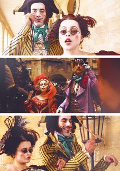 Ok, so despite their rather crude Master of the House scene, Helena Bonham Carter and Sascha Cohen were comedic GENIUS. I was very doubtful of Sascha Cohen, but he totally redeemed himself with his disgustingly - and yet hilariously - slimy Thenardier. And of course I never doubted Helena Bonham Carter for a second.