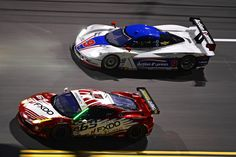 AIM Autosport Team FXDD with Ferrari Ferrari 458 with Action Express Racing Corvette DP