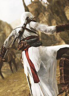 Altaïr - that ass-assin. I was saying assassin. Assesin Creed, All Assassin's Creed, Assassins Creed Costume, Assassins Creed Series, Assassin's Creed Hidden Blade, Edwards Kenway, We Are Young, Parkour, Character Art